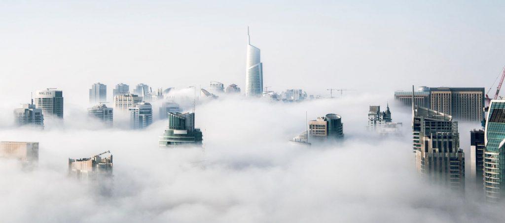 lucid dream buildings in the sky