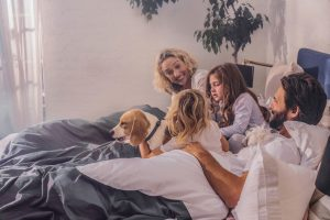 bed family for bedtime stories